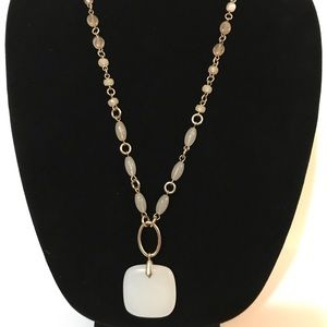 Banana Republic Pink, White and Gold necklace
